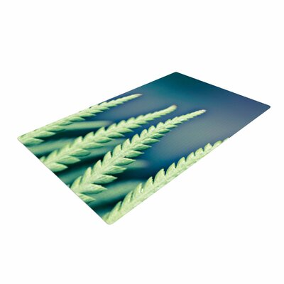 Ann Barnes Into the Forest Blue/Green Area Rug