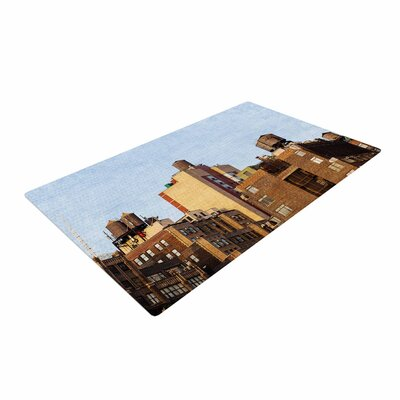 Ann Barnes Vintage NYC Cityscape Brown/Blue Area Rug Rug Size: 4 x 6