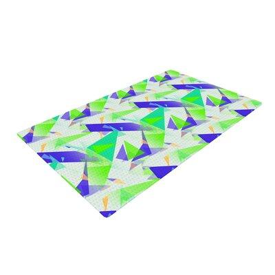 Alison Coxon Confetti Triangles Green/Teal Area Rug Rug Size: 2 x 3