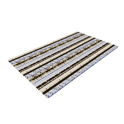 Mydeas Nautical Breeze Sandy Stripes Tan/Blue Area Rug Rug Size: 2 x 3