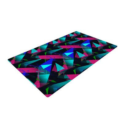 Alison Coxon Confetti Triangles Dark Magenta/Blue Area Rug