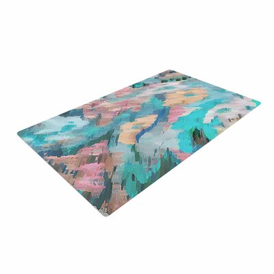 Alison Coxon Giverny Blue Abstract Teal Area Rug Rug Size: 2 x 3