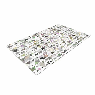 Angelo Cerantola Triangulation Geometric White Area Rug
