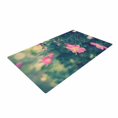 Ann Barnes Central Park Roses Pink/Nature Area Rug