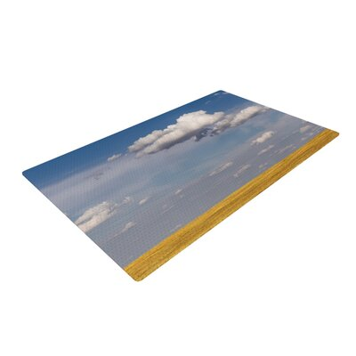 Ann Barnes Big Sky Clouds Blue/Yellow Area Rug