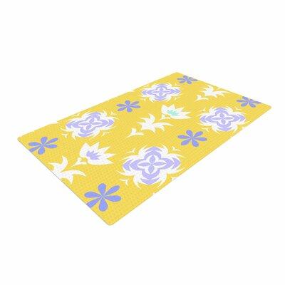 Alison Coxon Edwardian Tile Yellow/White Area Rug Rug Size: 2 x 3