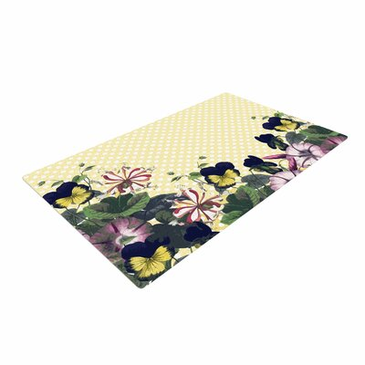 Alison Coxon Polka Dot Purple/Yellow Area Rug
