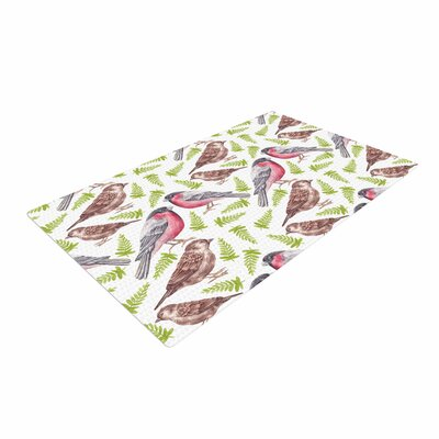 Alisa Drukman Sparrow And Bullfinch Pink/Green Area Rug Rug Size: 2 x 3