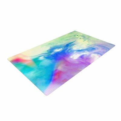 Alison Coxon Rainbow Flow Watercolor Multicolor Area Rug