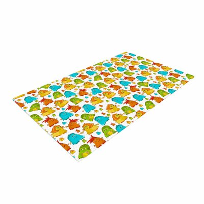 Alisa Drukman Good Monsters Kids Blue Area Rug Rug Size: 4 x 6