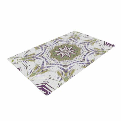 Alison Coxon Boho Dream Olive Purple/Green Area Rug Rug Size: 2 x 3