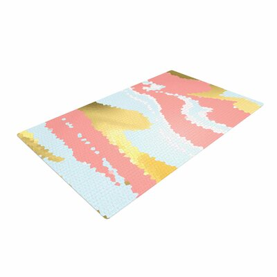 Alison Coxon Modern Mosaic Abstract Gold Area Rug Rug Size: 2 x 3