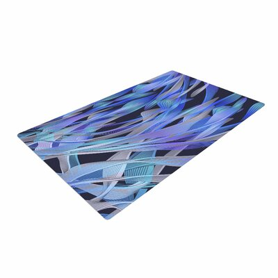 Angelo Cerantola Tropical Electric Blue Abstract Purple Area Rug