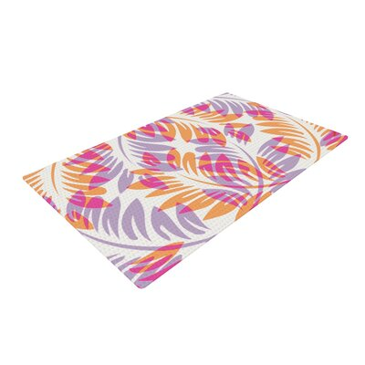 Alison Coxon Summer Fern Pink/Orange Area Rug Rug Size: 4 x 6