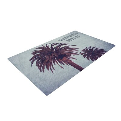 Ann Barnes California Dreams Blue/Brown Area Rug Rug Size: 2 x 3