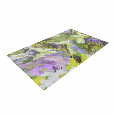 Alison Coxon Giverny Lilac Pattern Yellow Area Rug Rug Size: 4 x 6