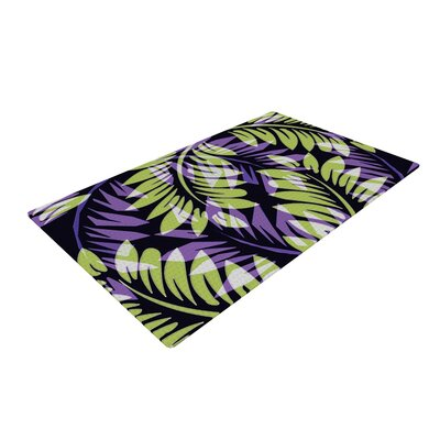 Alison Coxon Dark Fern Green/Purple Area Rug Rug Size: 4 x 6