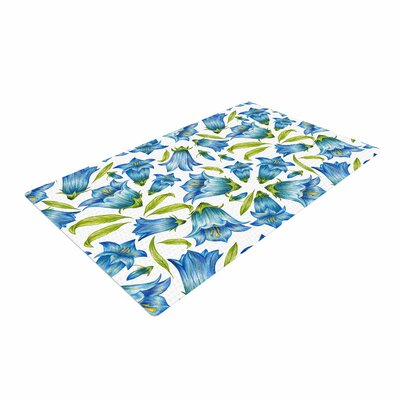 Alisa Drukman Campanula Floral Blue Area Rug Rug Size: 4 x 6