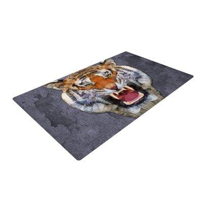 Ancello Abstract Tiger Gray/Orange Area Rug