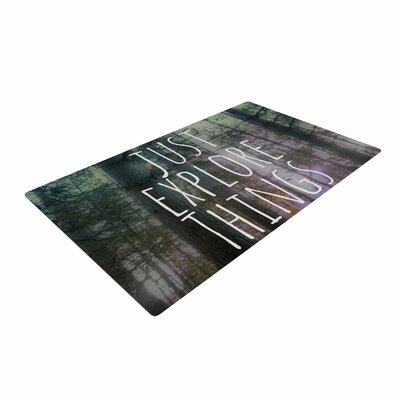 Alison Coxon Just Explore Things Photography Green Area Rug Rug Size: 2 x 3