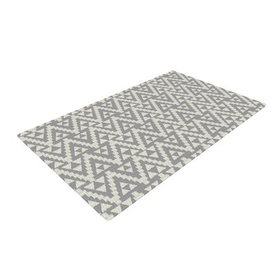Amanda Lane Tribal Gray Tribal Grey Area Rug Rug Size: 4 x 6