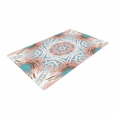 Alison Coxon Tribe Coral And Teal Blue/White Area Rug