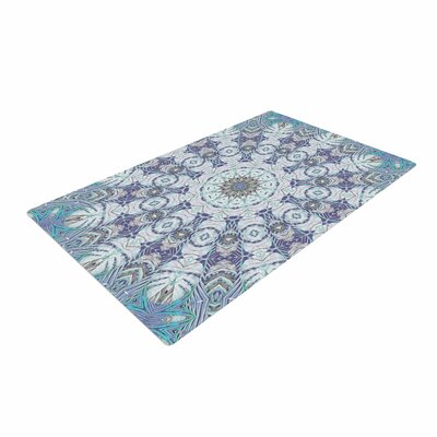 Alison Coxon Jungle Kaleidoscope Cool Blue/Purple Area Rug Rug Size: 2 x 3
