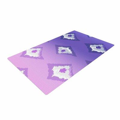 Alison Coxon Purple Ombre Ikat Lavender/White Area Rug Rug Size: 2 x 3