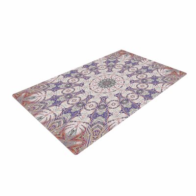 Alison Coxon Jungle Kaleidoscope Warm Purple/White Area Rug Rug Size: 2 x 3