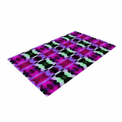 Anne LaBrie High Vibrations Magenta/Purple Area Rug