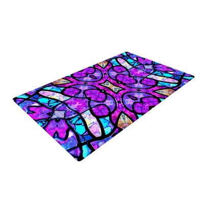 Art Love Passion Kaleidoscope Dream Pink/Purple Area Rug Rug Size: 2 x 3