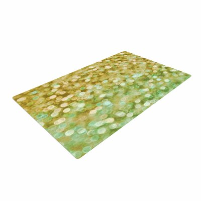 Alison Coxon Gold And Mint Sparkle Bokeh Gold Area Rug