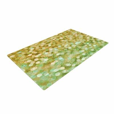 Alison Coxon Sparkle Bokeh Gold Area Rug Rug Size: 2 x 3