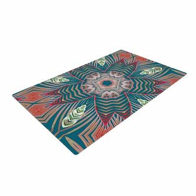Alison Coxon Kitenge Green Teal/Coral Area Rug Rug Size: 2 x 3