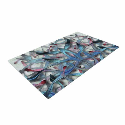 Angelo Cerantola Wax And Wayne Digital Blue Area Rug Rug Size: 4 x 6