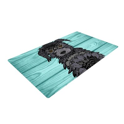 Art Love Passion Little Miss Daisy Blue/Black Area Rug Rug Size: 2 x 3