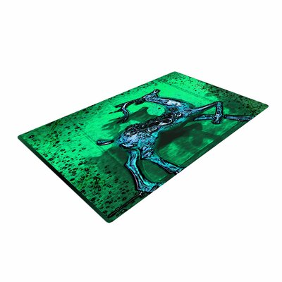 Anne LaBrie Dance on Green/Blue Area Rug