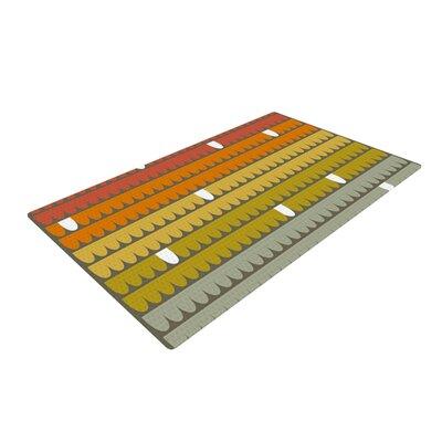 Pellerina Design Rainbow Scallops Red/Orange Area Rug