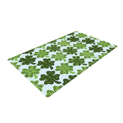 Art Love Passion Lucky You Shamrock Green Area Rug Rug Size: 4 x 6