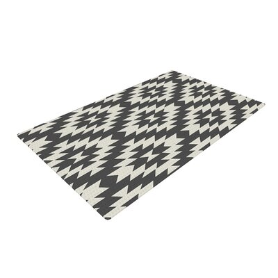 Amanda Lane Navajo Tribal Geometric Black/Cream Area Rug Rug Size: 2 x 3