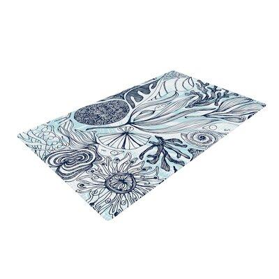 Anchobee Marina Blue/Aqua Area Rug Rug Size: 2 x 3