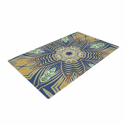 Alison Coxon Kitenge Deep Blue/Orange Area Rug Rug Size: 4 x 6