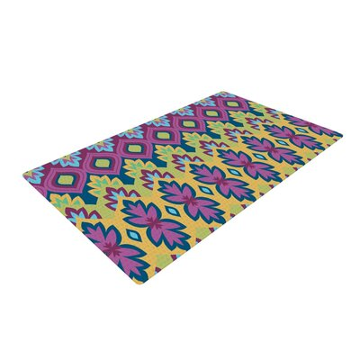 Amanda Lane Boho Chic Purple/Yellow Area Rug