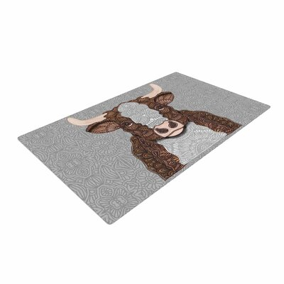 Art Love Passion Gustaf the Bull Brown/Gray Area Rug