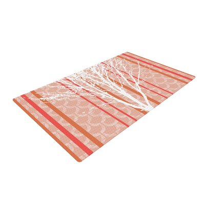 Pellerina Design Spring Tree Orange/Pastel Area Rug Rug Size: 4 x 6