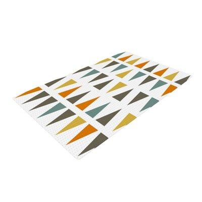 Pellerina Design Stacked Geo Triangles White Area Rug