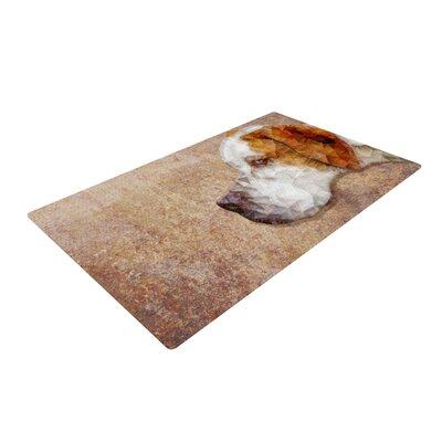 Ancello Abstract Beagle Geometric Brown Area Rug