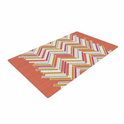 Pellerina Design Herringbone Weave Bold Vector Orange Area Rug