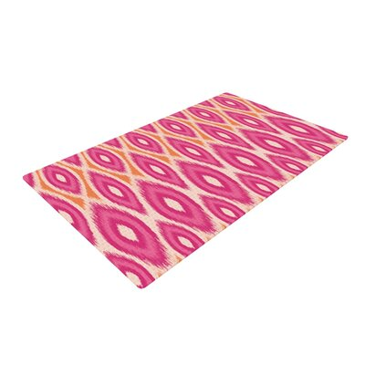 Amanda Lane Pink and Orange Moroccan Magenta/Tangerine Area Rug