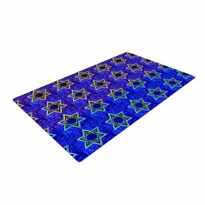 Anne LaBrie Davids Starry Sky! Pattern Blue Area Rug